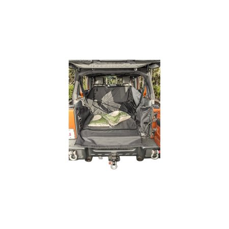 07-16 WRANGLER C3 CARGO COVER, WITH SUBWOOFER BLACK