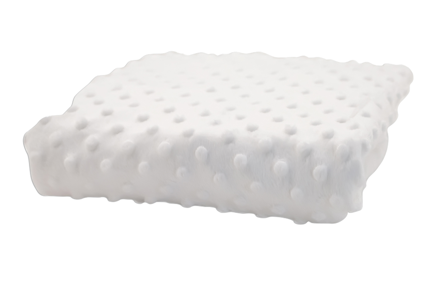 Rumble Tuff Kit Minky Dot Contour Changing Pad Cover - Compact, White