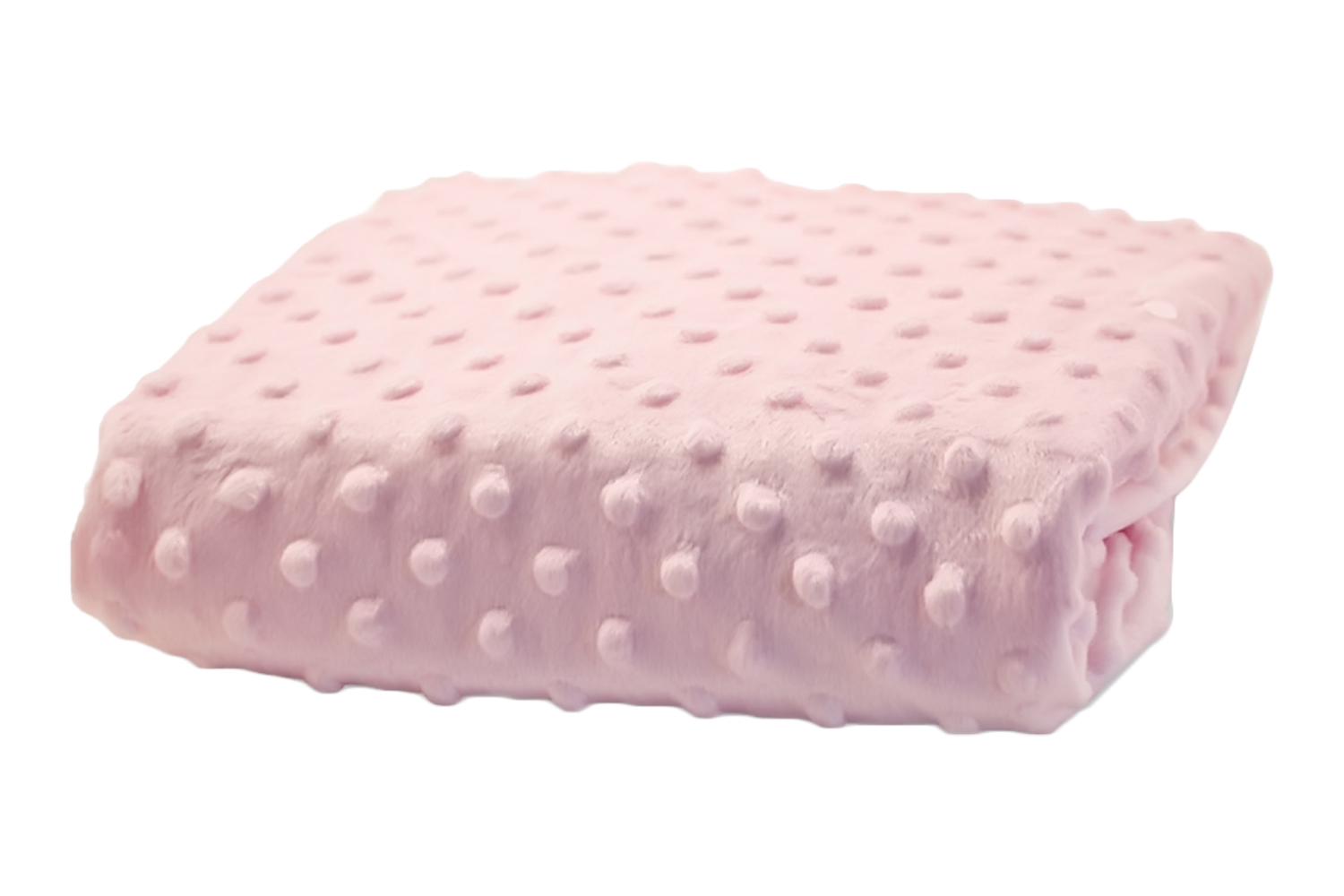 Rumble Tuff Kit Minky Dot Contour Changing Pad Cover - Compact, Powder Pink