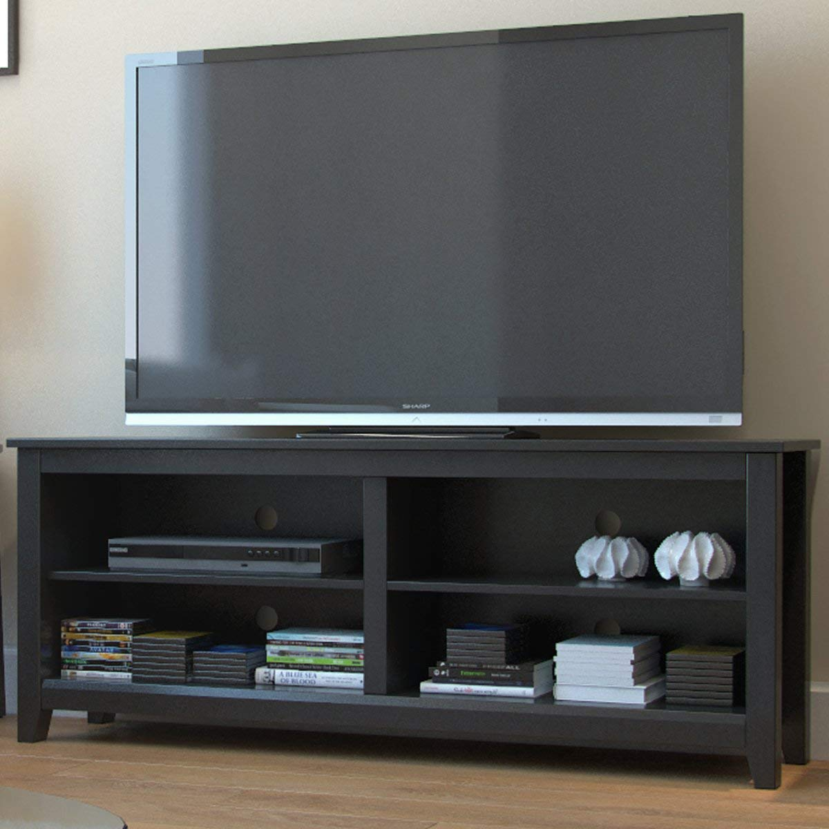 Ryan Rove Mission Wood TV Stand and Console Table - Modern Entertainment Center with Cable Management - Storage Cabinet, Bedroom