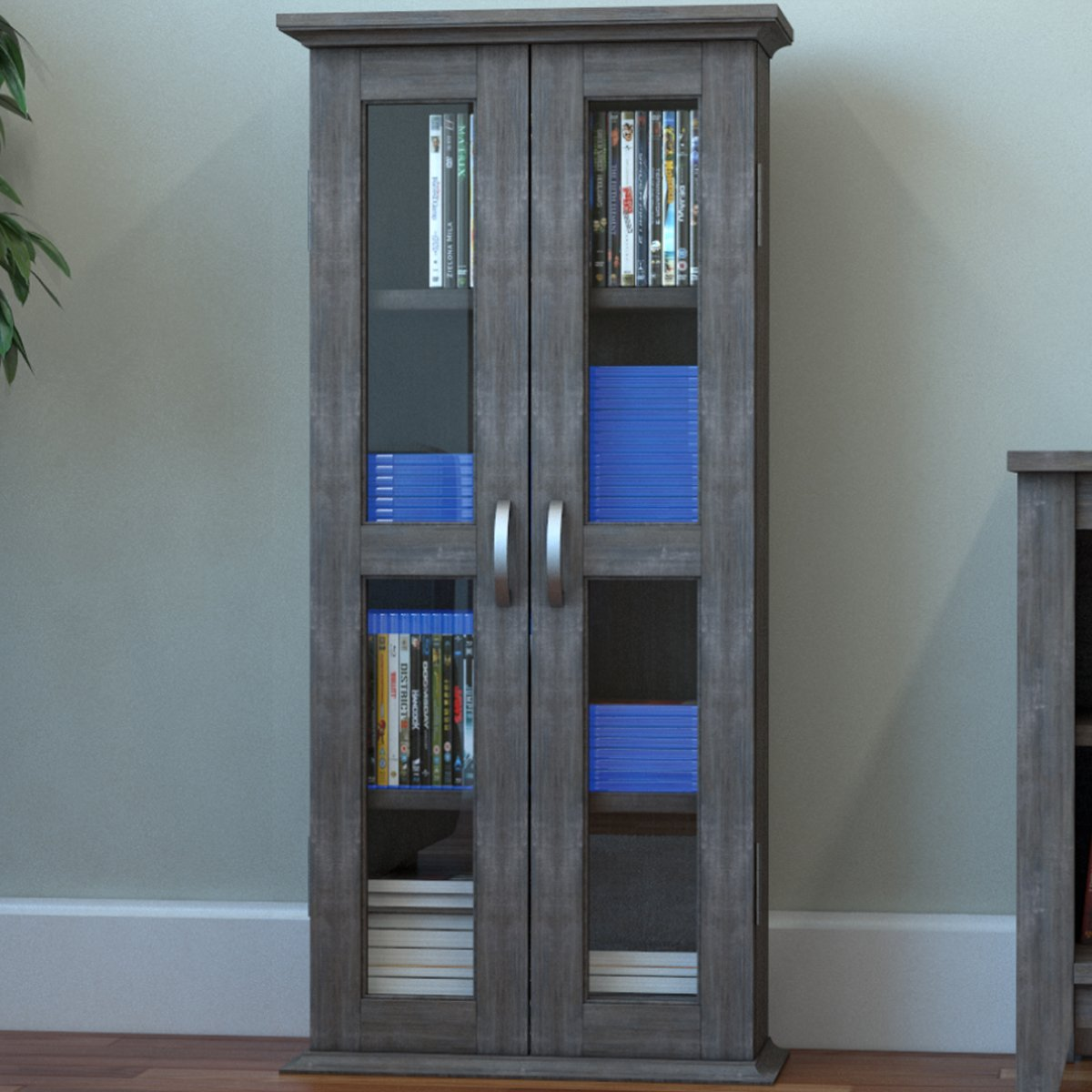 Ryan Rove Kirkwell Wood DVD Storage Shelves Tower - Media Cabinet Organizer, Home Decor, Bedroom and Living Room Furniture - Woo