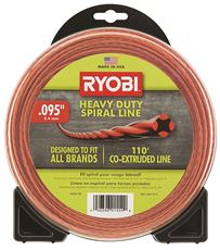 RYOBI� HEAVY-DUTY SPIRAL GAS TRIMMER LINE, 0.095 IN. X 110 FT.