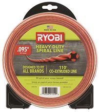 RYOBI� HEAVY-DUTY SPIRAL GAS TRIMMER LINE, 0.095 IN. X 110 FT.