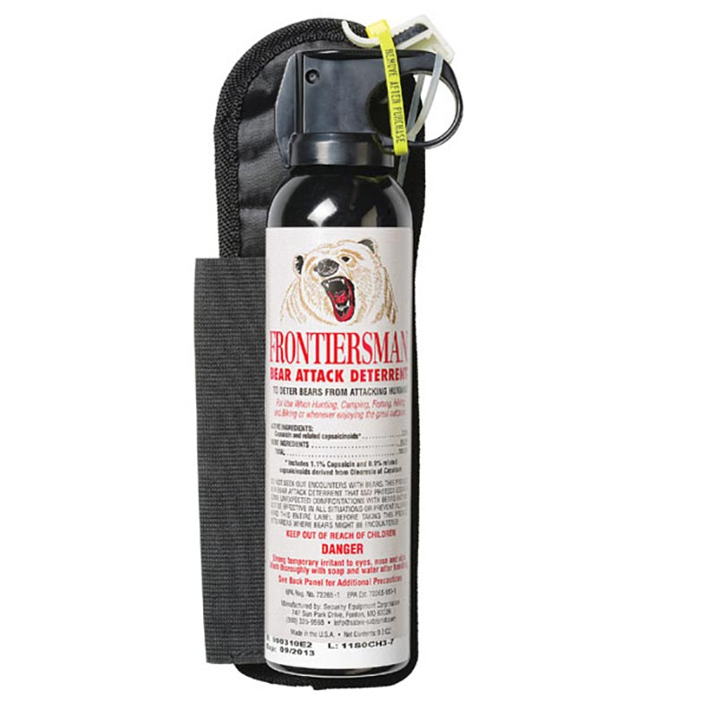 Frontiersman Bear Spray Easy Access Max Strength 9.2 oz 35 Foot Range