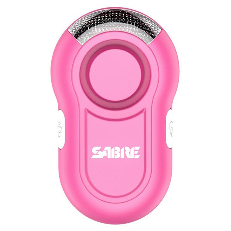 Sabre Personal Alarm w/ LED Light, Pink