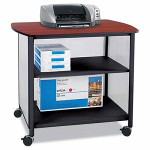 Impromptu Deluxe Machine Stand, 34-3/4w x 25-1/2d x 31h, Black/Cherry