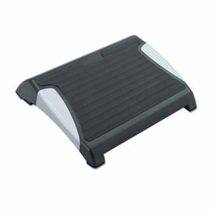 Restease Adjustable Footrest, 15-1/2w x 13-3/4d x 3-1/4 to 5h, Black/Silver