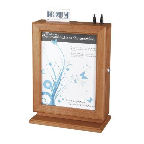Customizable Wood Suggestion Box, 10 1/2 x 5 3/4 x 14 1/2, Cherry