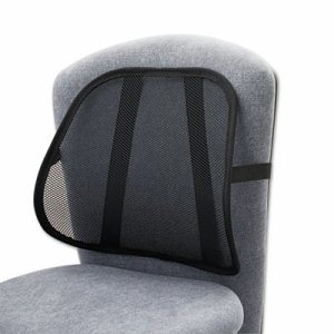 Mesh Backrest, 17-1/2w x 3-1/8d x 15h, Black