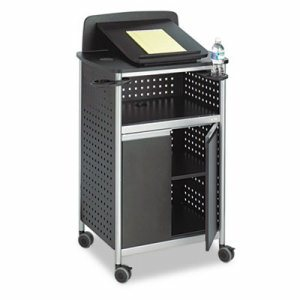 Scoot Multipurpose Lectern, 28-3/4w x 22d x 49-3/4h, Black/Silver