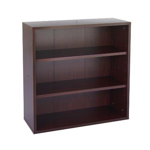 Apr�s Open Bookcase, Three-Shelf, 29-3/4w x 11-3/4d x 29-3/4h, Mahogany