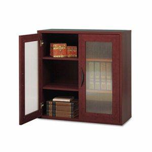Apr�s Two-Door Cabinet, 29-3/4w x 11-3/4d x 29-3/4h, Mahogany