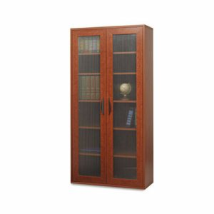 Apr�s Tall Two-Door Cabinet, 29-3/4w x 11-3/4d x 59-1/2h, Cherry