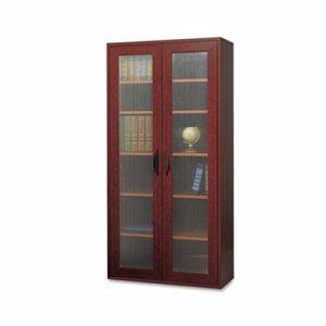 Apr�s Tall Two-Door Cabinet, 29-3/4w x 11-3/4d x 59-1/2h, Mahogany