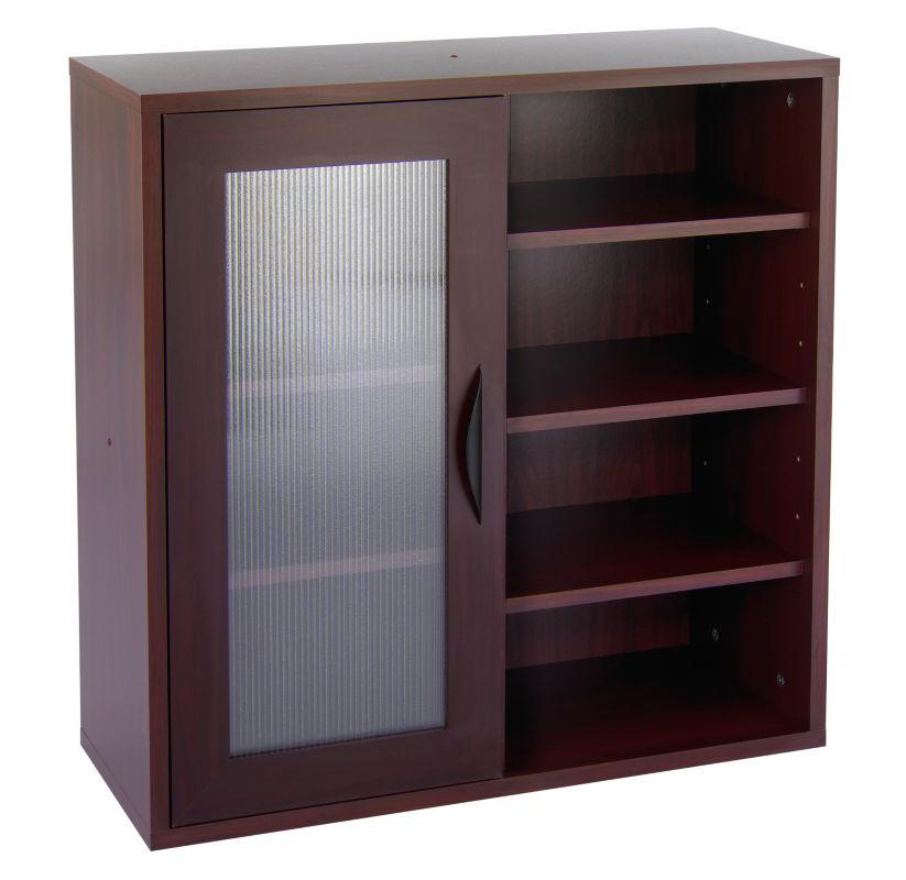 Apr�s Single-Door Cabinet w/Shelves, 29-3/4w x 11-3/4d x 29-3/4h, Mahogany