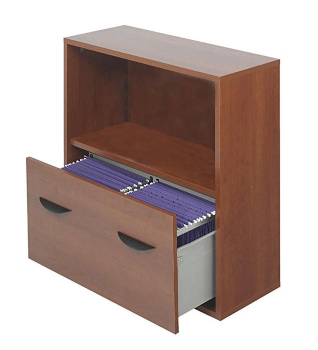 Apr�s File Drawer Cabinet With Shelf, 29 3/4w x 11 3/4d x 29 3/4h, Cherry