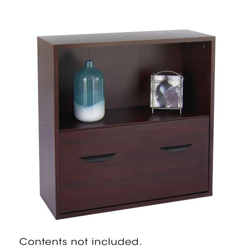 Apr�s File Drawer Cabinet With Shelf, 29 3/4w x 11 3/4d x 29 3/4h, Mahogany