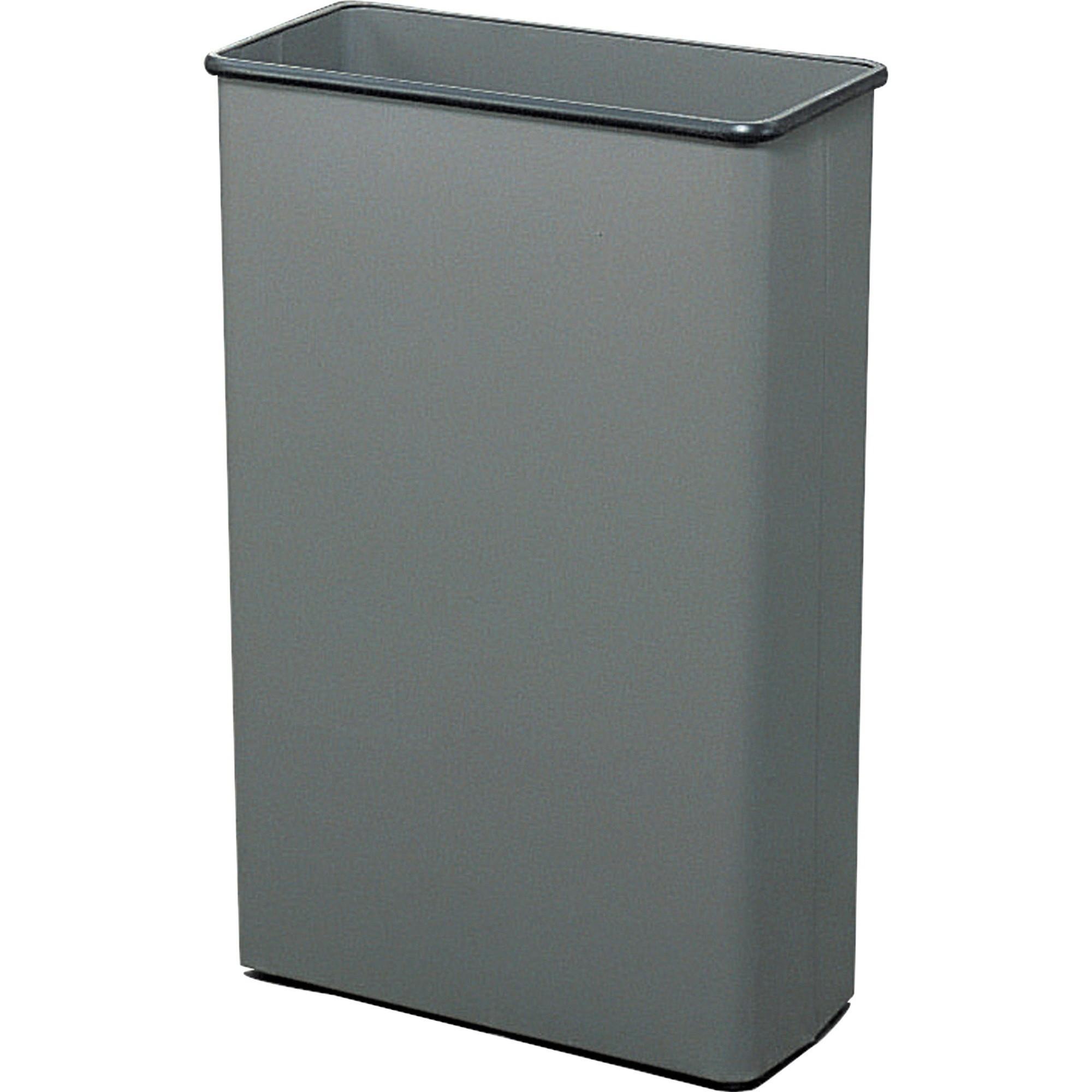 Rectangular Wastebasket, Steel, 22gal, Charcoal