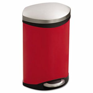 Step-On Medical Receptacle, 3gal, Red