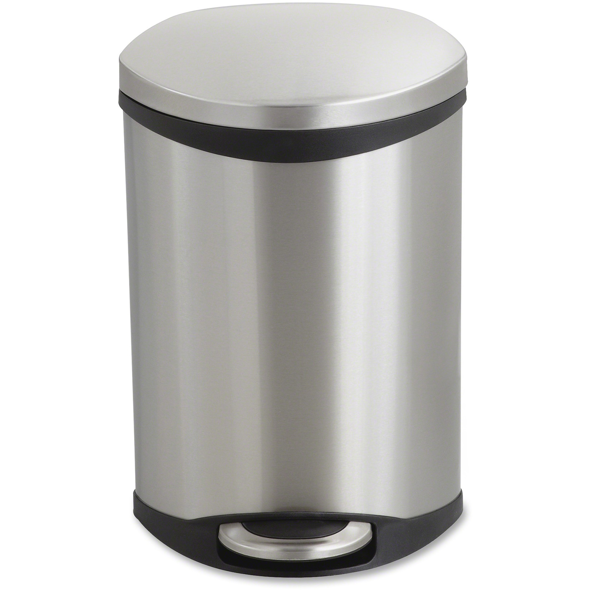 Step-On Medical Receptacle, 3gal, Stainless Steel