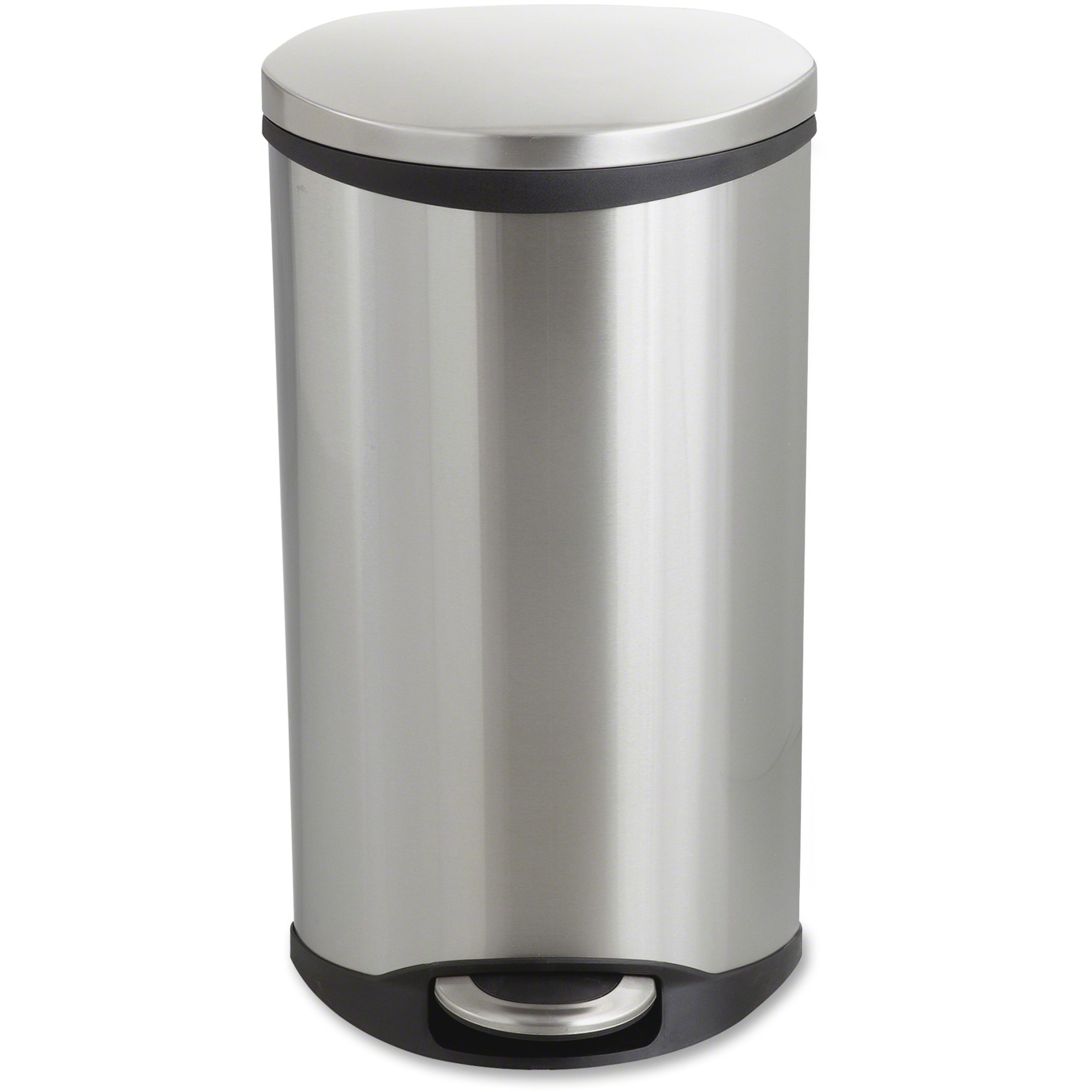 Step-On Medical Receptacle, 7.5gal, Stainless Steel