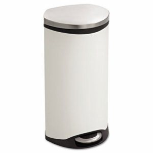 Step-On Medical Receptacle, 7.5gal, White