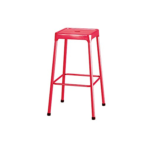 Bar-Height Steel Stool, Red