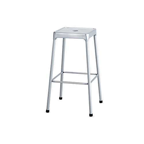 Bar-Height Steel Stool, Silver