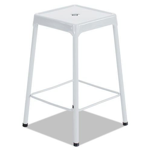 Bar-Height Steel Stool, White