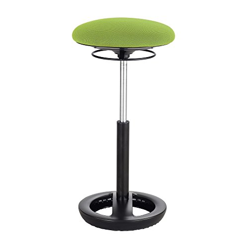 """Twixt Extended-Height Ergonomic Chair, 32"""" High, Green Fabric"""