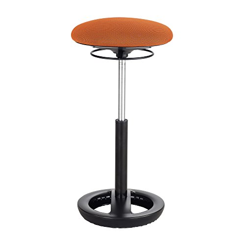 """Twixt Extended-Height Ergonomic Chair, 32"""" High, Orange Fabric"""