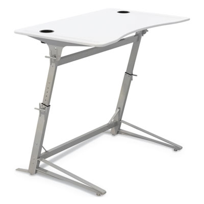 Verve Standing Desk, 47.25w x 31.75d x 42h, White