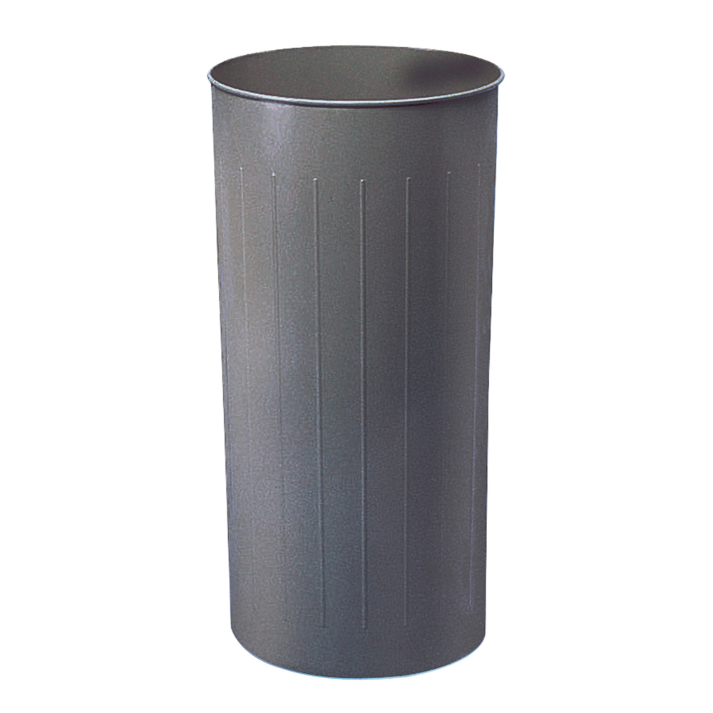 Tall Round Wastebasket, Charcoal-CH Pack of 3