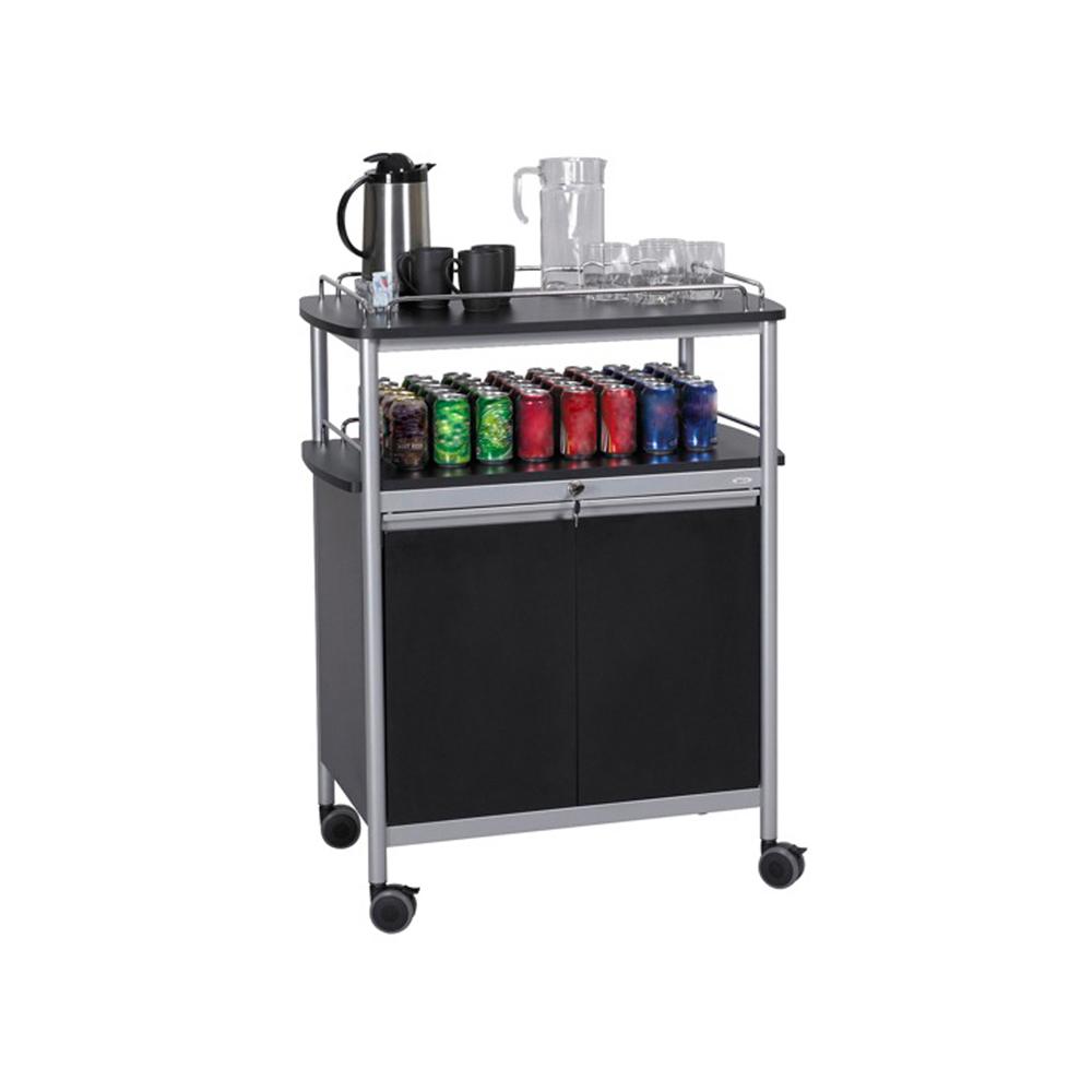 Mobile Beverage Cart, Black