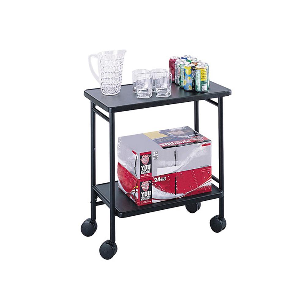 Folding Beverage Cart, Black