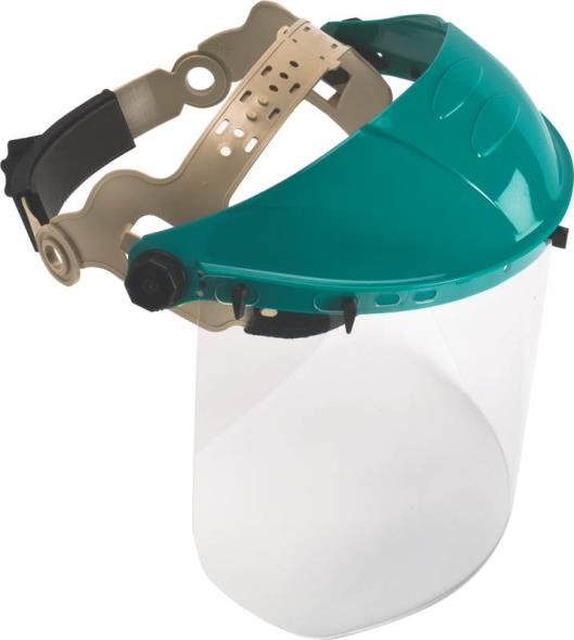MSA 10103557 Adjustable Headgear With Visor, Polycarbonate Clear