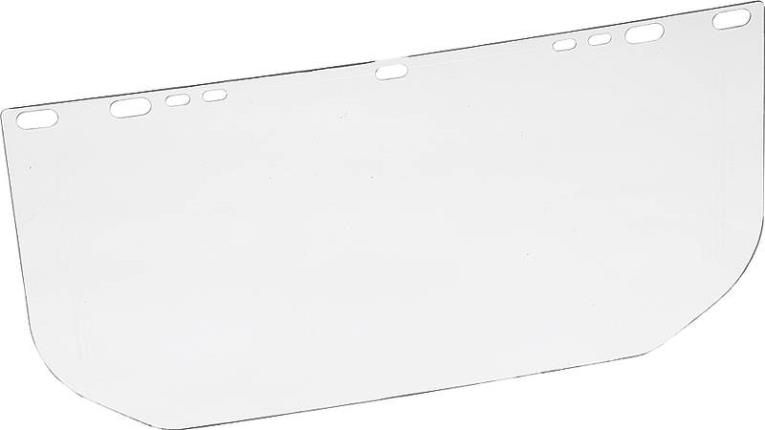MSA 10107913 Replacement Faceshield Visor, For Use With Adjust Headgear, Polycarbonate Clear