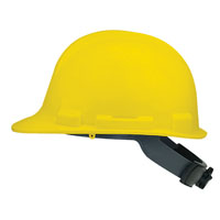 V-Gard 475360 Hard Hat, 6-1/2 - 8 in, Front Brim, Slotted, Polyethylene, Yellow