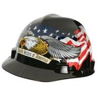 V-Gard 10124207 Hard Hat, American Eagle, Polycarbonate Resin, Black