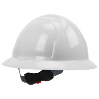 MSA 10006318 Hard Hat, Non-Slotted, Full Brim, White