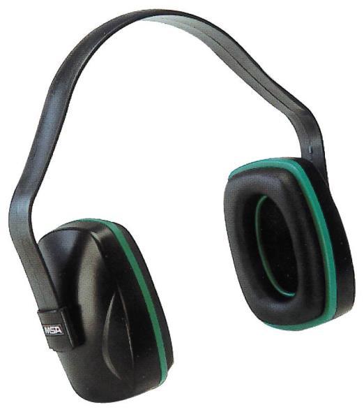 MSA Industrial Grade 10004293 Dielectric Ear Muff, 20 dB, Plastic, Black/Green
