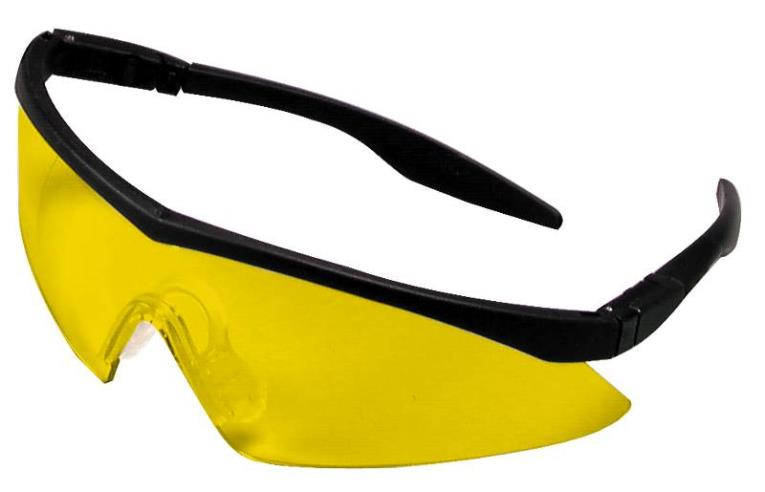 MSA 10021258 Safety Glasses, Amber Anti-Fog Lens, Black Frame