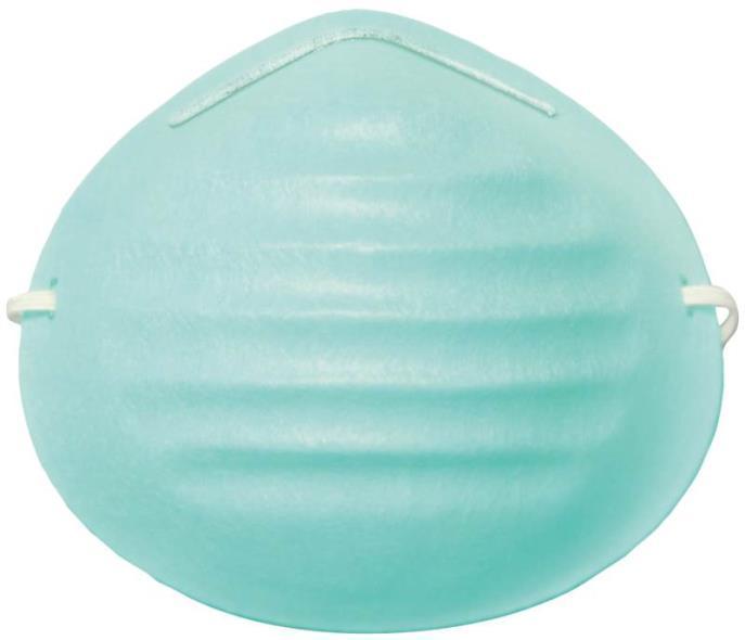 MSA 10028560 Non-Toxic Dust Mask, Light Green