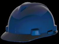 V-Gard 475359 Hard Hat, 6-1/2 - 8 in, Front Brim, Slotted, Polyethylene, Blue