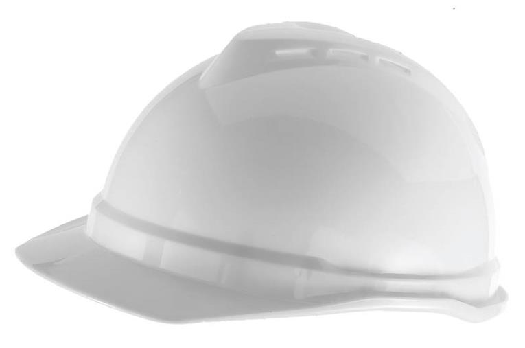 MSA 10034020 Vented Hard Hat, 6-1/2 - 8 in, Front Brim, Slotted, Cap Brim, Polyethylene, Yellow