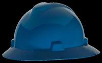 V-Gard 475368 Hard Hat, 6-1/2 - 8 in, Non-Slotted, Full Brim, Polyethylene, Blue