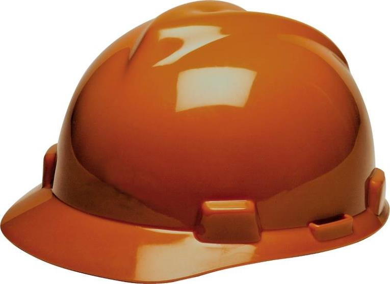 V-Gard 475361 Hard Hat, 6-1/2 - 8 in, Slotted, Full Brim, Polyethylene, Orange