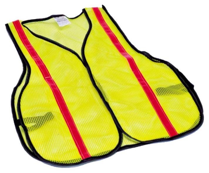MSA 817890 High Visibility Reflective Safety Vest With Side Straps, One Size Fits All, Lime