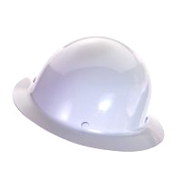 Skull Guard 475408 Heavy Duty Hard Hat, 6-1/2 - 8 in, Non-Slotted, Full Brim, Polycarbonate