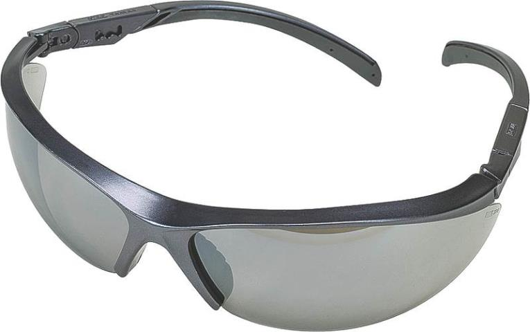 MSA Safety 10083083 Essential Adjust 1138 Safety Glasses, Black Frame